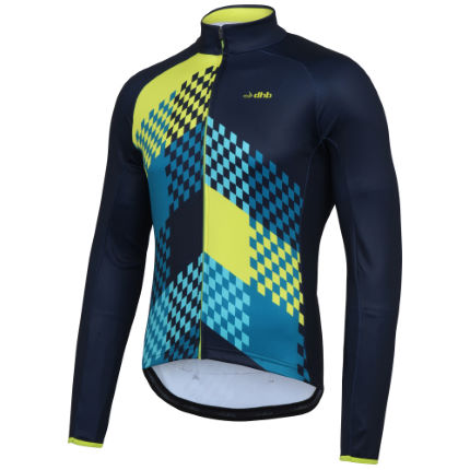 dhb Blok Grid Long Sleeve Thermal Jersey