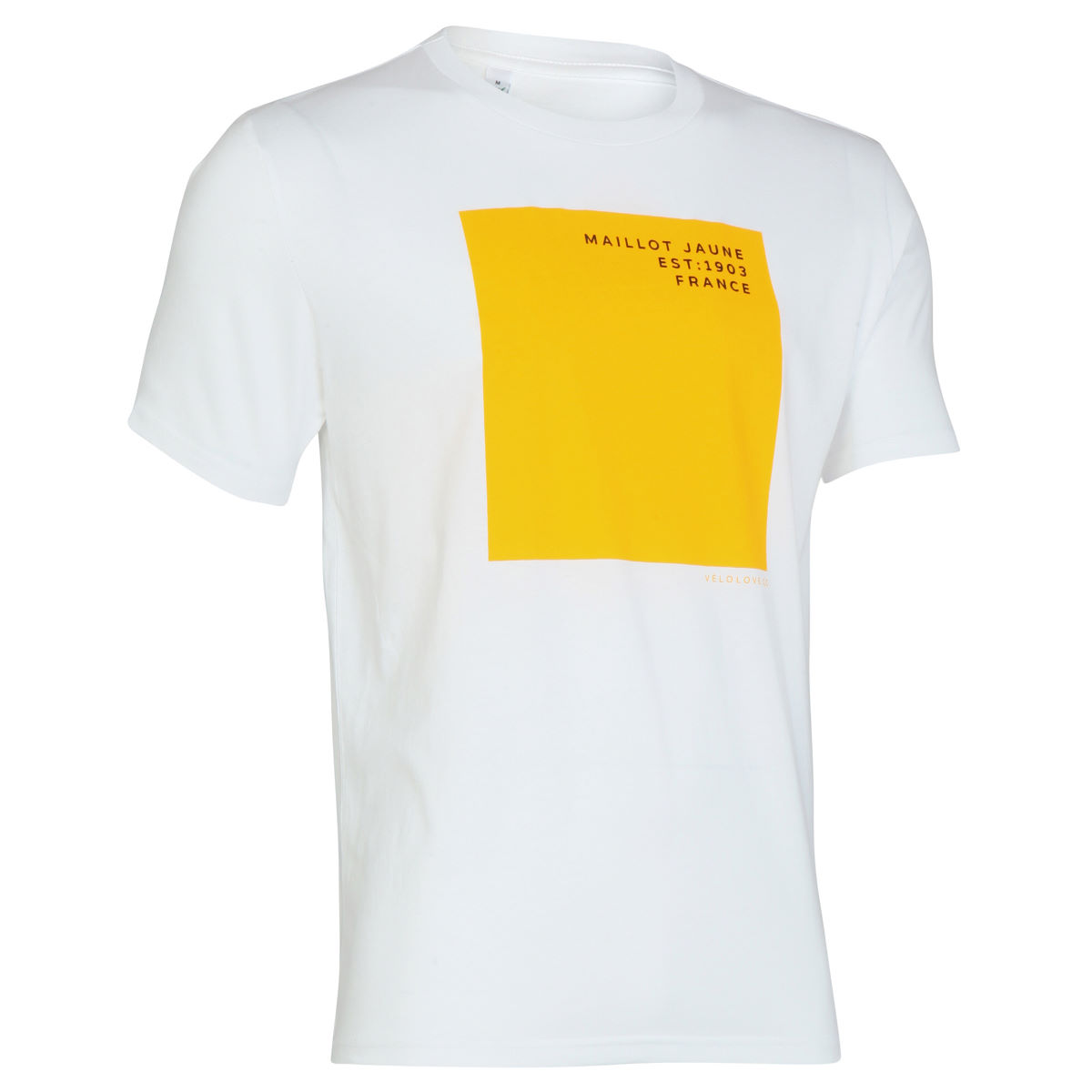 T-shirt Velolove Maillot Jaune - S White / Yellow Block T-shirts