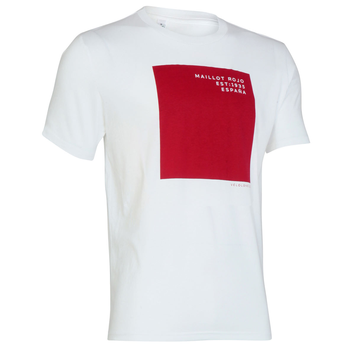 T-shirt Velolove Maillot Rojo - S White/ Red Block T-shirts