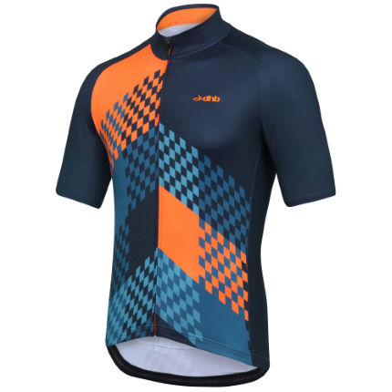 dhb Blok Grid Short Sleeve Lightweight Thermal Jersey