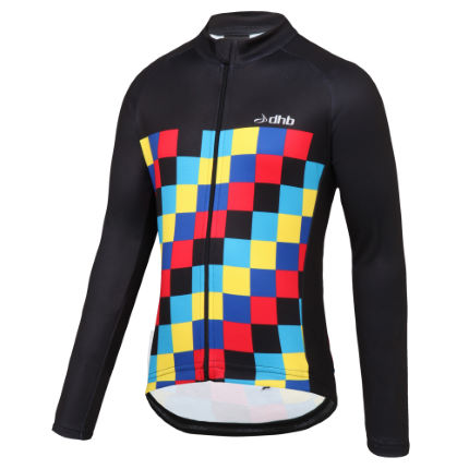 dhb Kids Checker Long Sleeve Jersey (Boys)