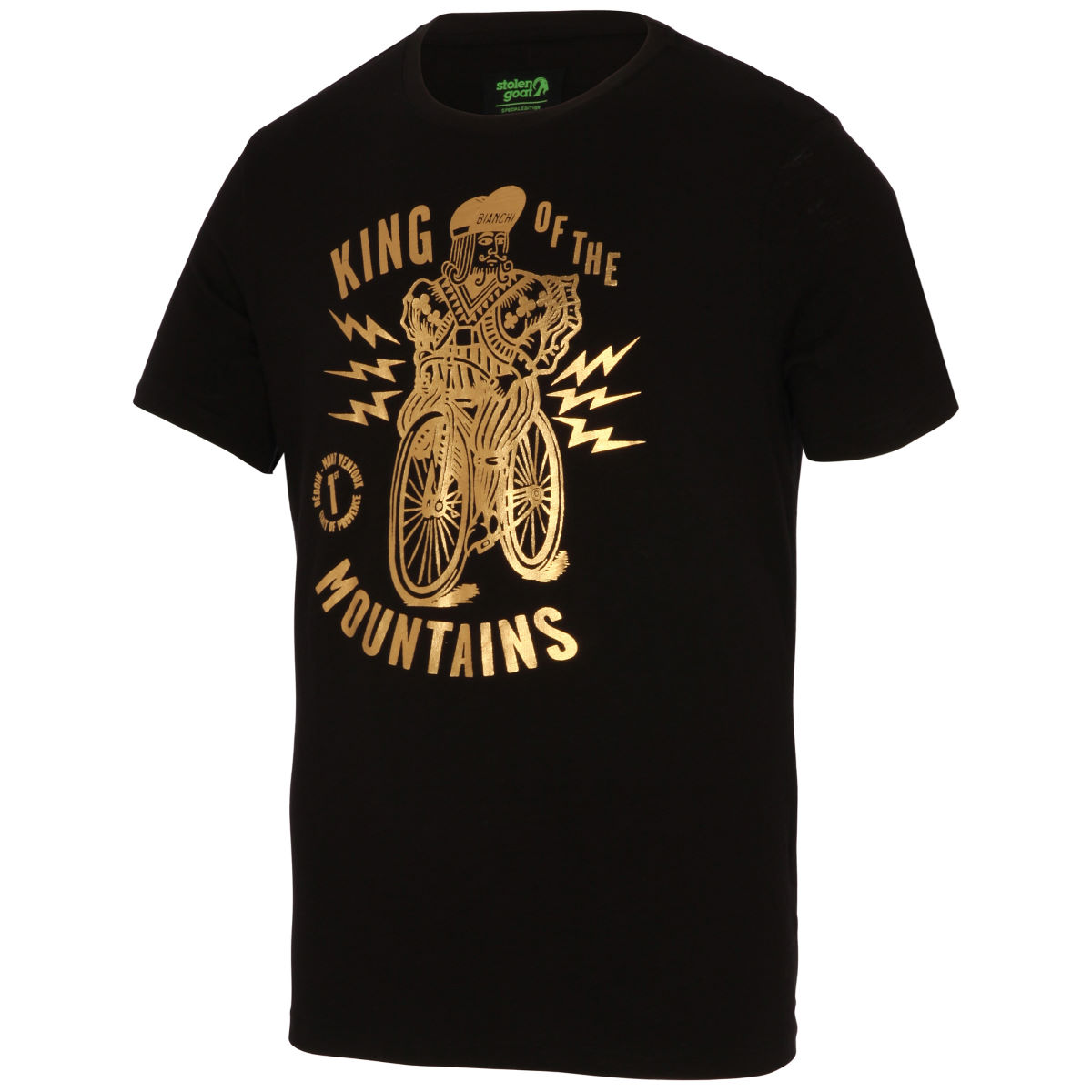 T-shirt Stolen Goat King of the Mountains - S Noir T-shirts