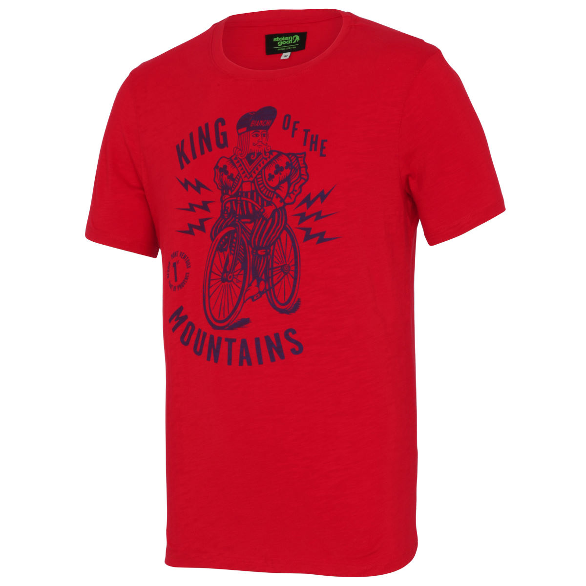 T-shirt Stolen Goat King of the Mountains - S Rouge T-shirts