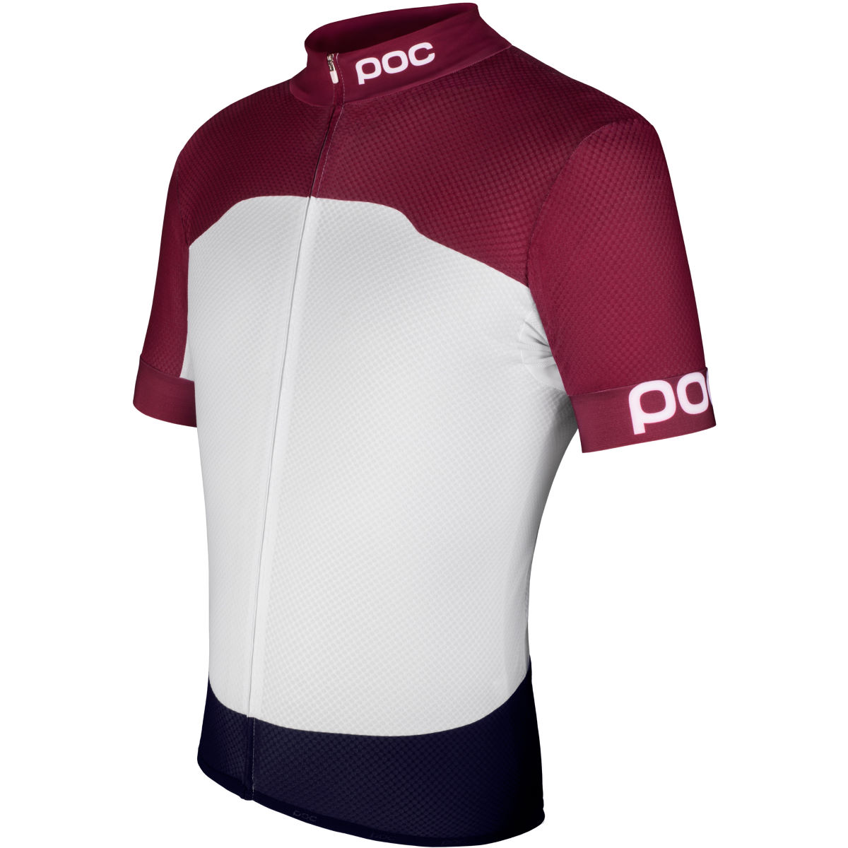 Maillot POC Raceday Climber (PE15) - Extra Extra Large Granate Red/White Maillots vélo à manches courtes