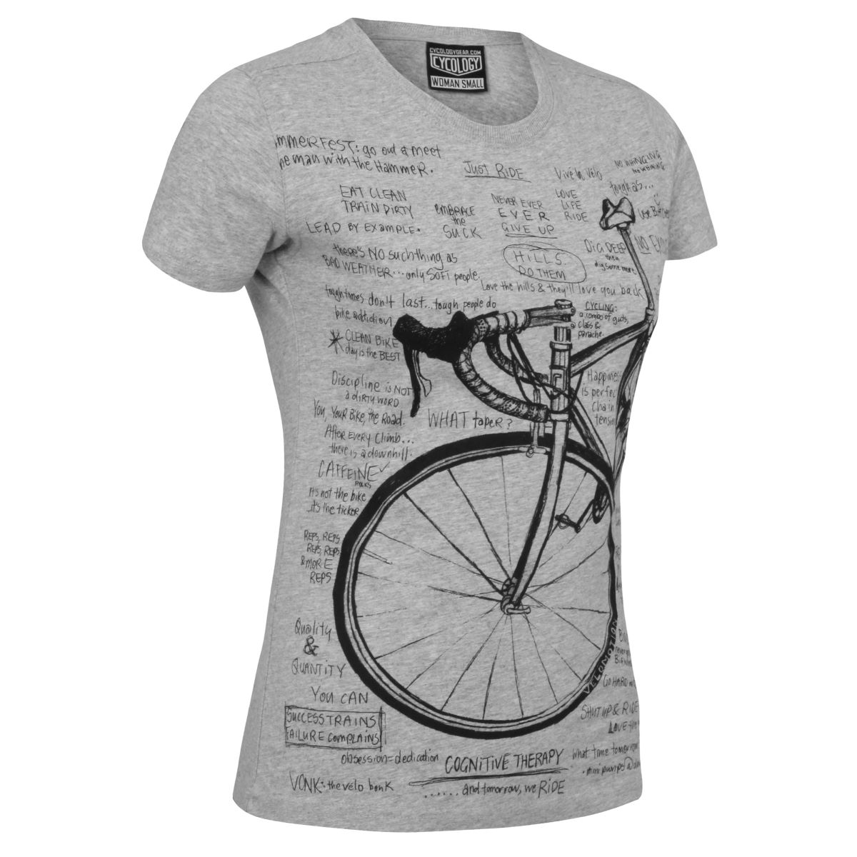 T-shirt Femme Cycology Cognitive Therapy - L Gris T-shirts