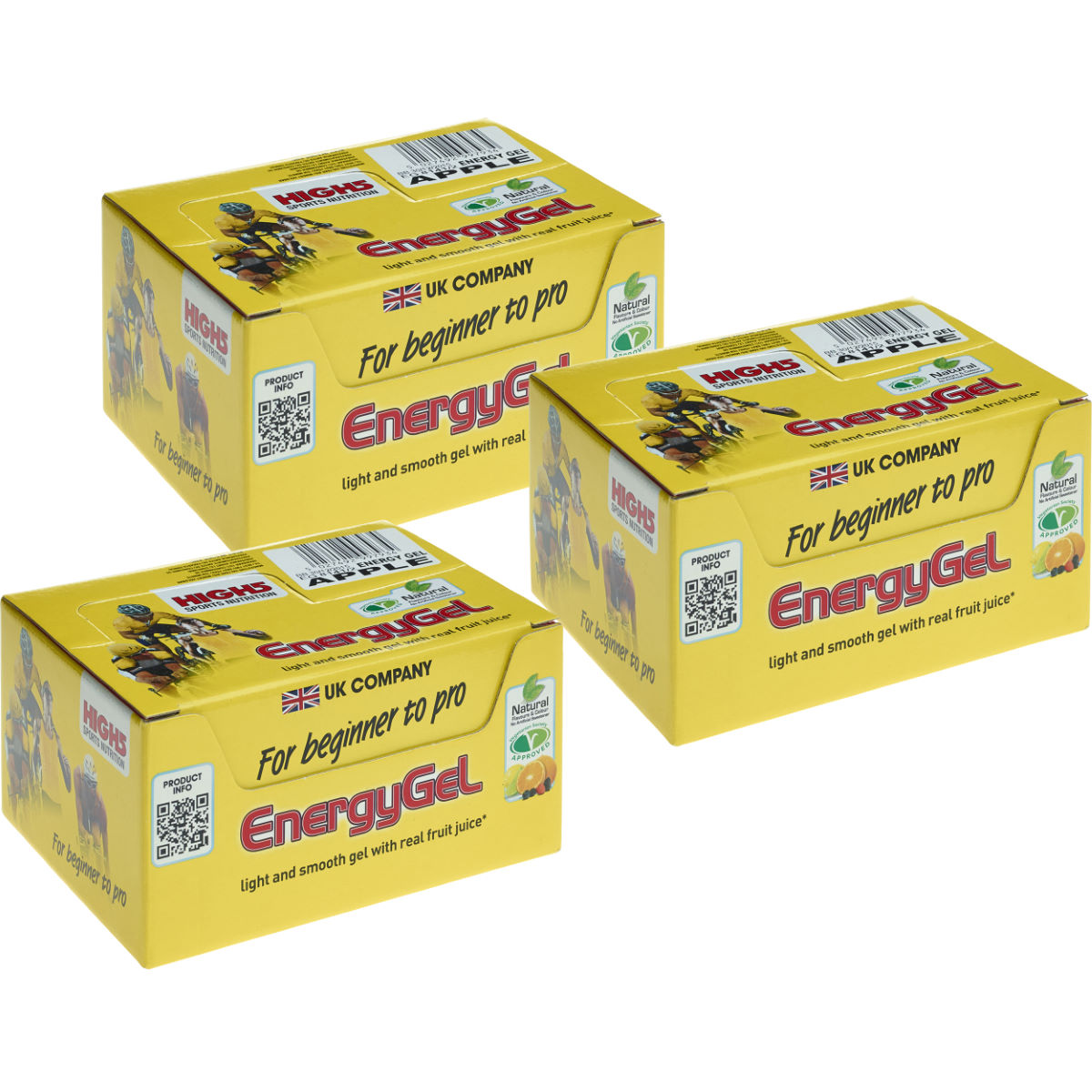 High5 Energy Gel Sachets (20 x 38g x 3 Boxes)