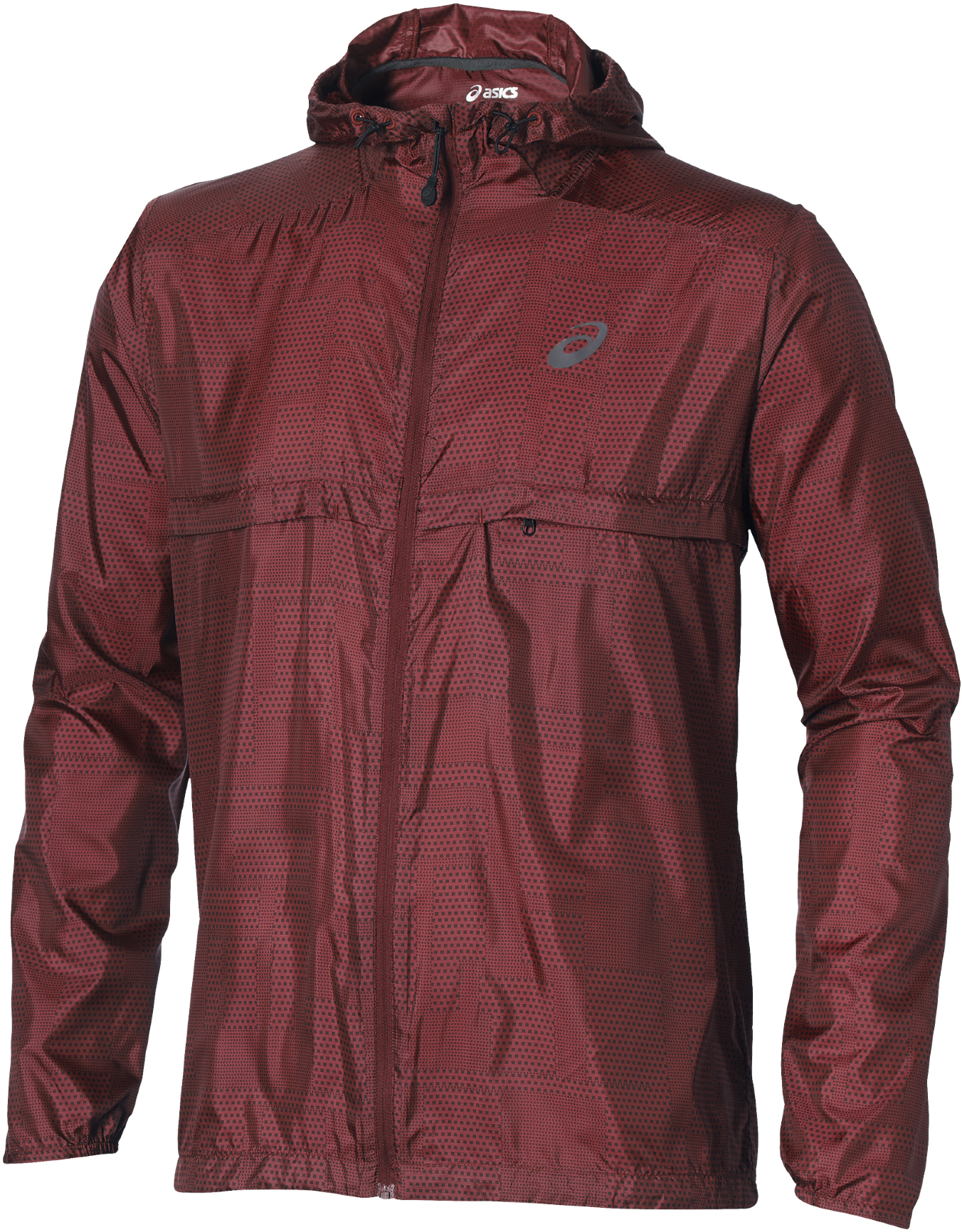 asics packable jacket womens Brown
