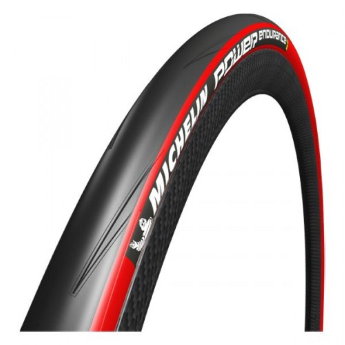 Pneu souple de route Michelin Power Endurance (700 x 23 c) - 700 x 23c Rouge Pneus de compétition sur route