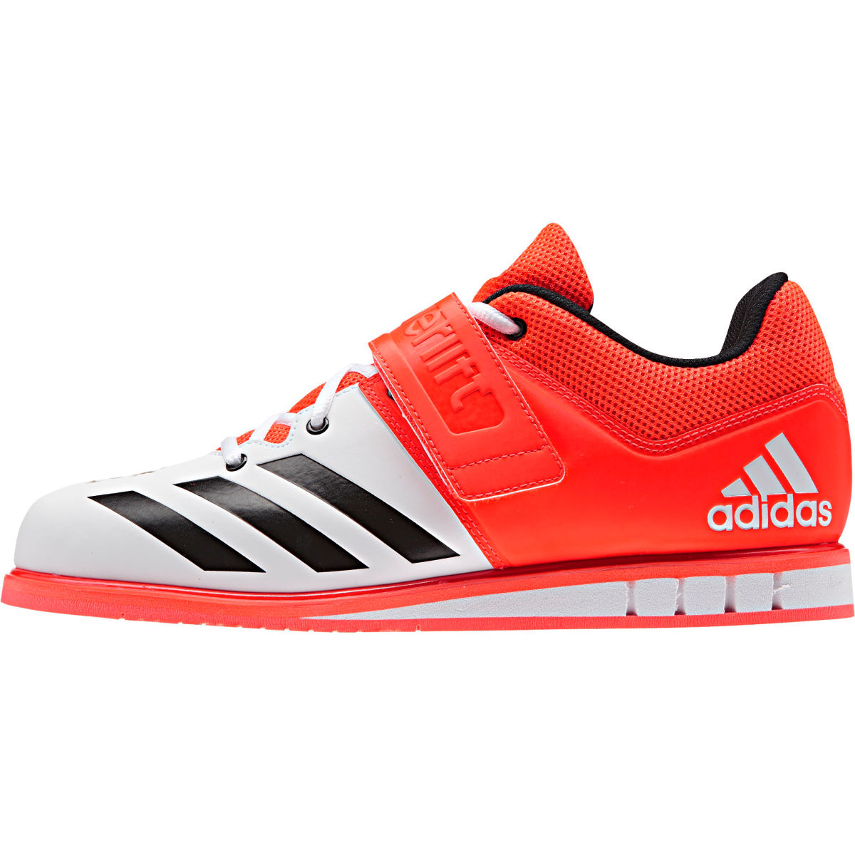 Chaussures Adidas Powerlift 3 (AH16) - 10 UK Red/Black/White Chaussures d'entraînement