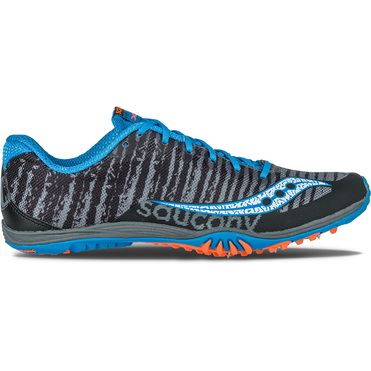 Chaussures de cross-country Saucony Kilkenny (AH16) - 8 UK Black/Carolina Chaussures de running à pointes