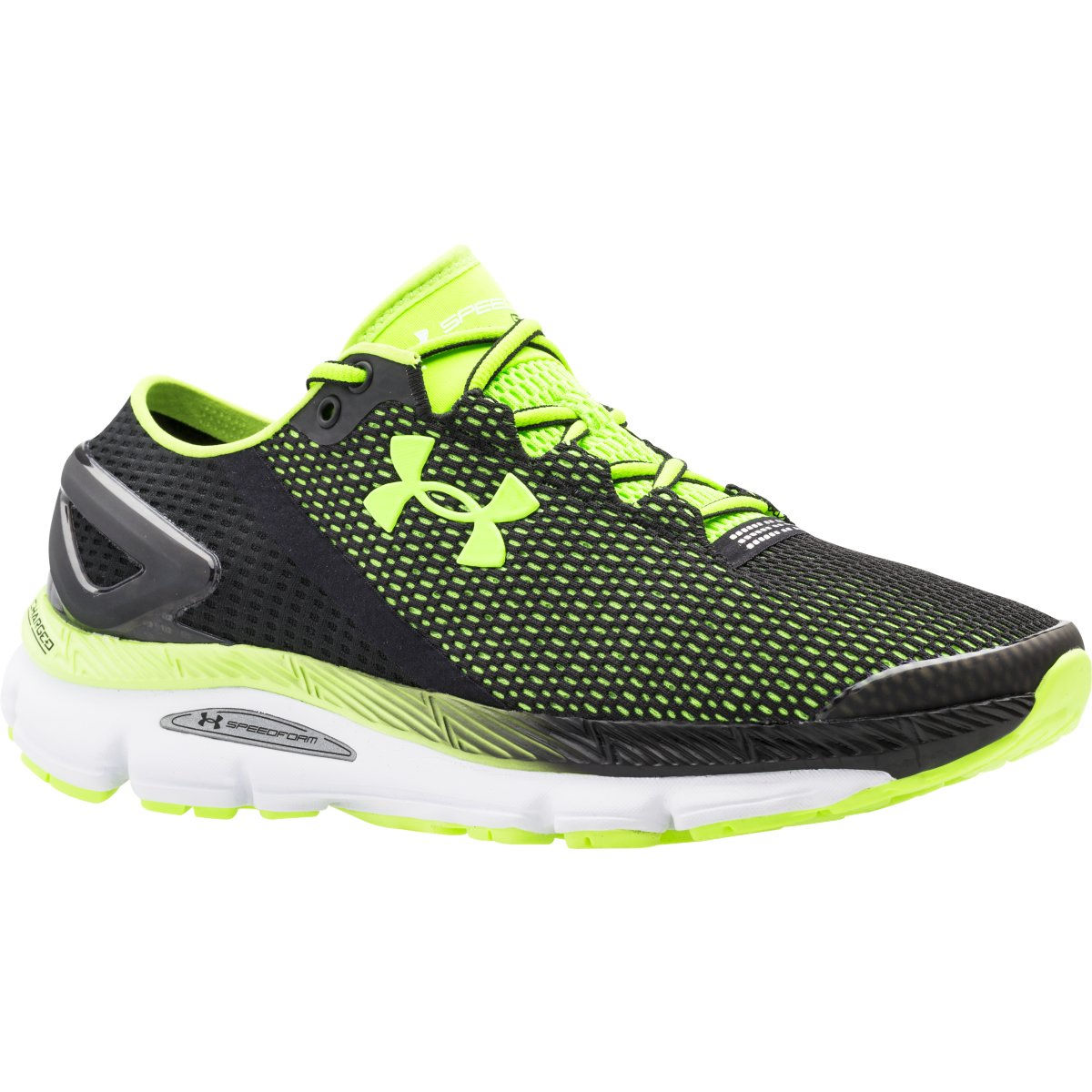 Chaussures Under Armour Speedform Gemini 2.1 (AH16) - 10 UK Black/White/Green Chaussures de running amorties
