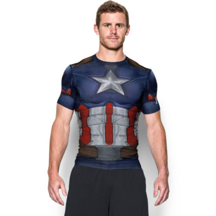 Camiseta de compresión de manga corta Under Armour Captain America