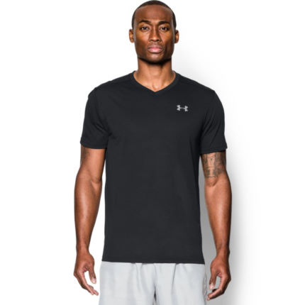 Wiggle under armour streaker run v neck t shirt aw16 for Do under armour shirts run small