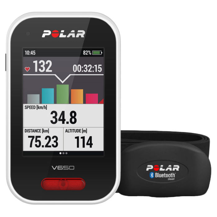 wiggle polar v650 strava gps cycling computer with hrm gps cycle computers. Black Bedroom Furniture Sets. Home Design Ideas