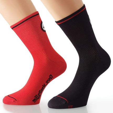 Assos milleSock_evo7 Red (2 pairs)