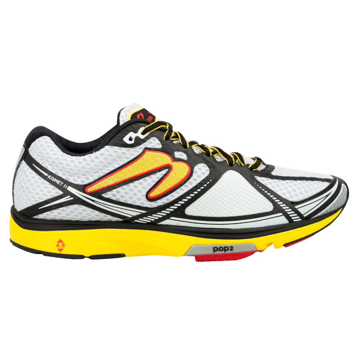 Chaussures Newton Running Kismet II (AH16) - 8 UK White/Yellow Chaussures de running amorties