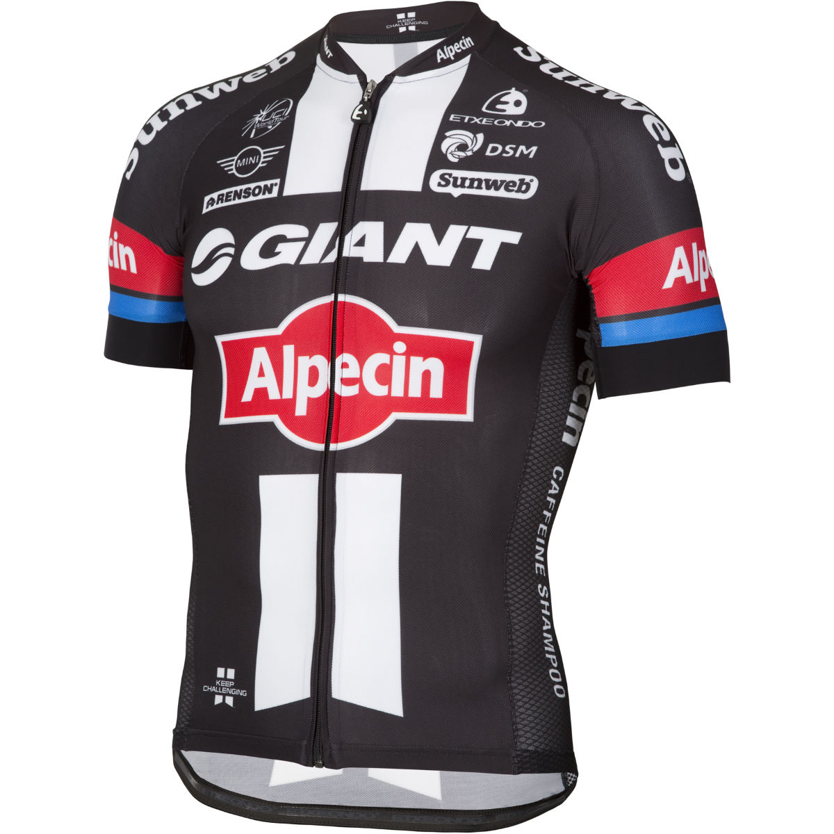 Maillot Etxeondo Giant Alpecin Authentic Climbers - M Black/White/Red Maillots des équipes pro