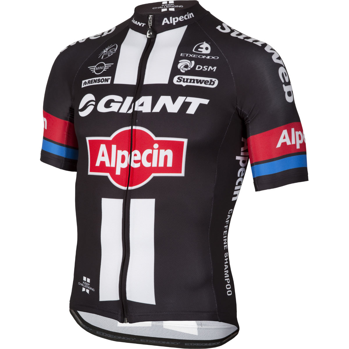 Maillot Etxeondo Giant Alpecin Replica - M Black/White/Red Maillots des équipes pro