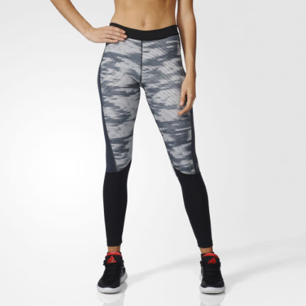 Adidas Techfit Print Långa tights (HV16) - Dam