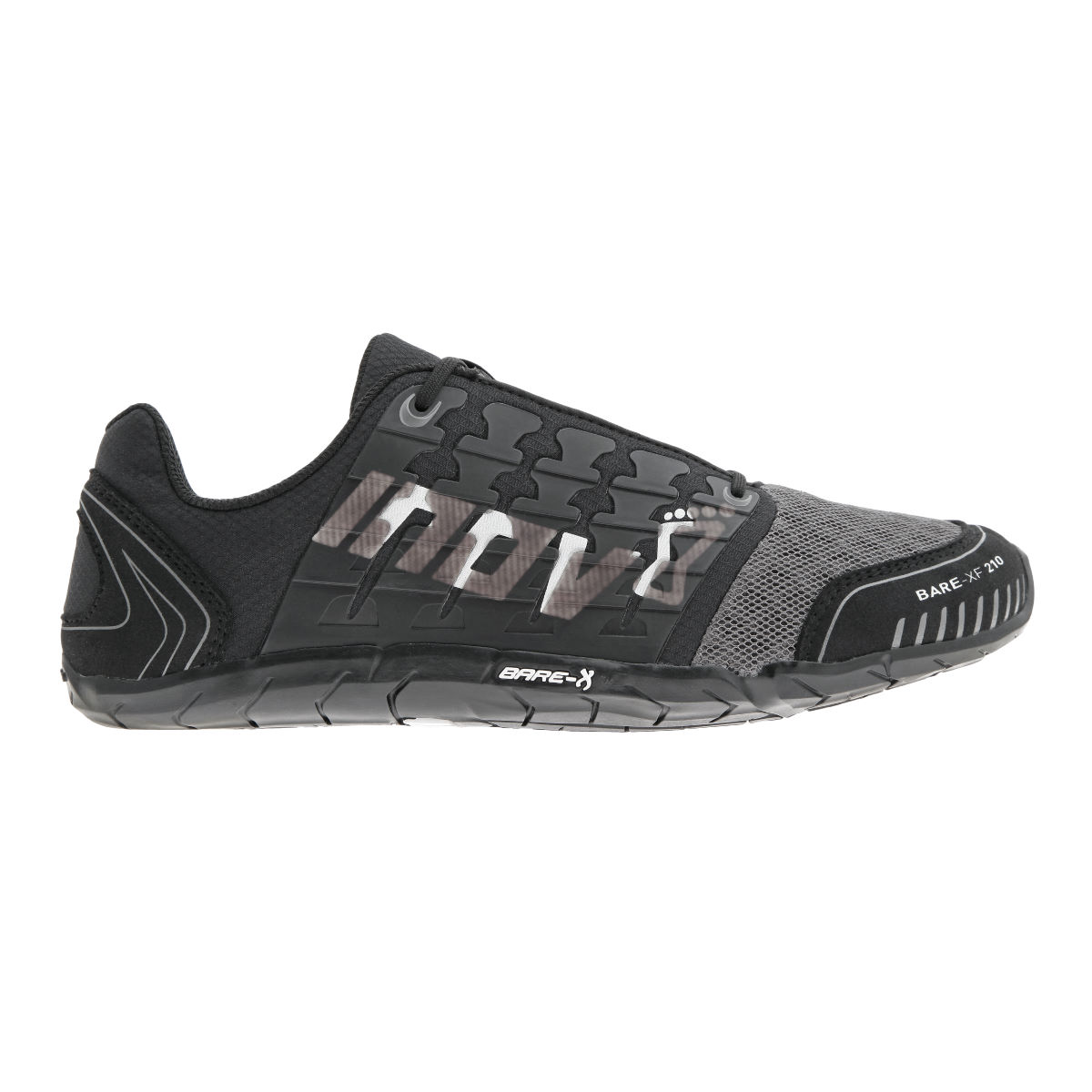 Chaussures Inov-8 Bare-XF 210 (AH16) - 4 UK Black/Grey/White Chaussures d'entraînement