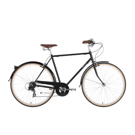 Bobbin Beat Gloss Black Hybrid Bike