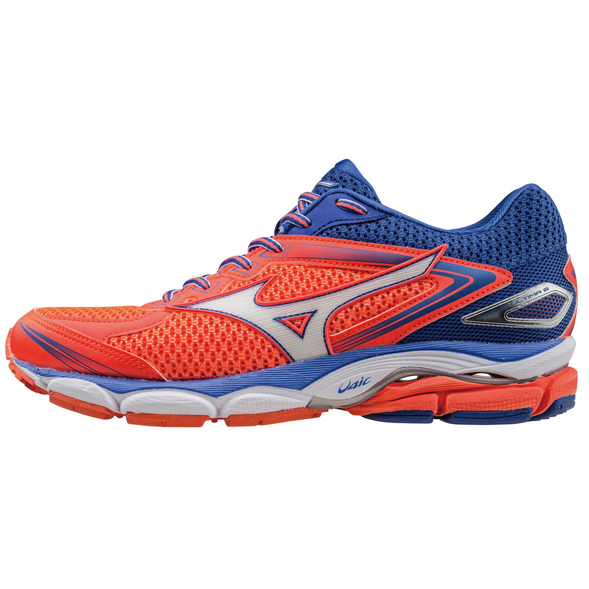 Chaussures Femme Mizuno Wave Ultima 8 (AH16) - 4 UK Coral/White/Blue Chaussures de running amorties