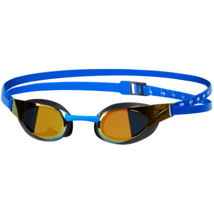 Speedo Fastskin3 Elite Mirror Goggle (Blue/Gold)