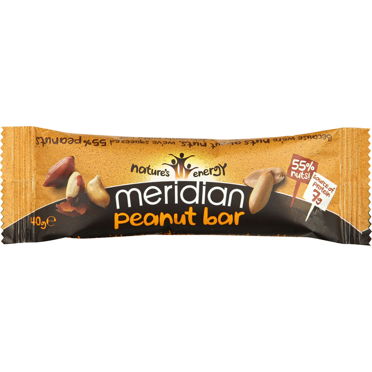 Barre Meridian Cacahuète (18 x 40 g) - 18 x 40g 11-20 Peanut Barres