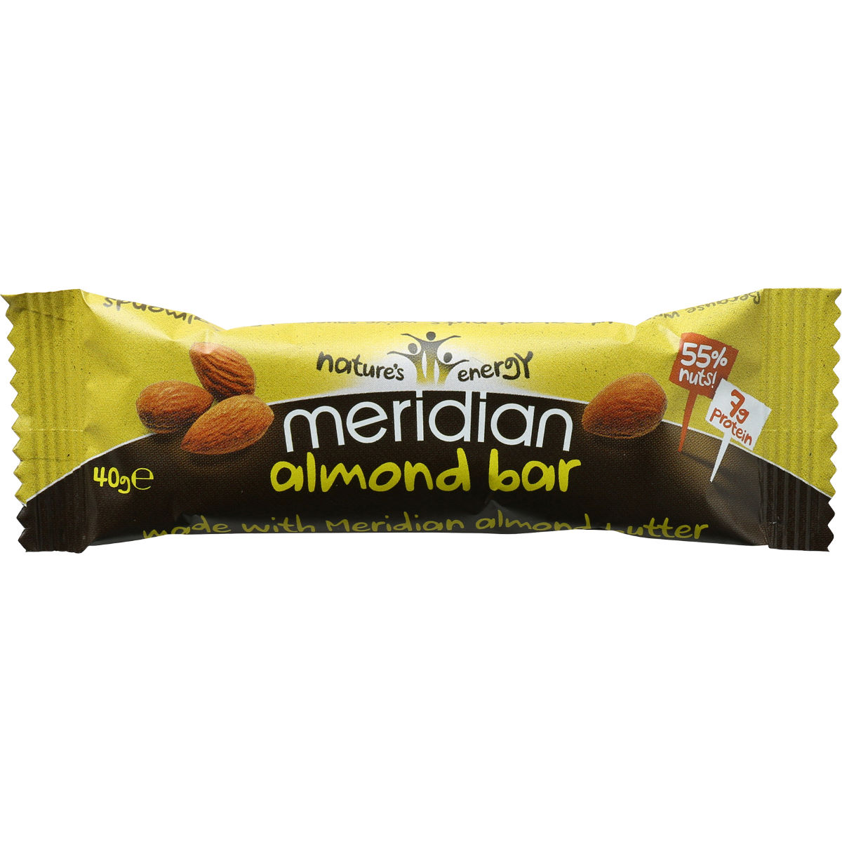 Barre Meridian Amandes (18 x 40 g) - 18 x 40g 11-20 Almond Barres