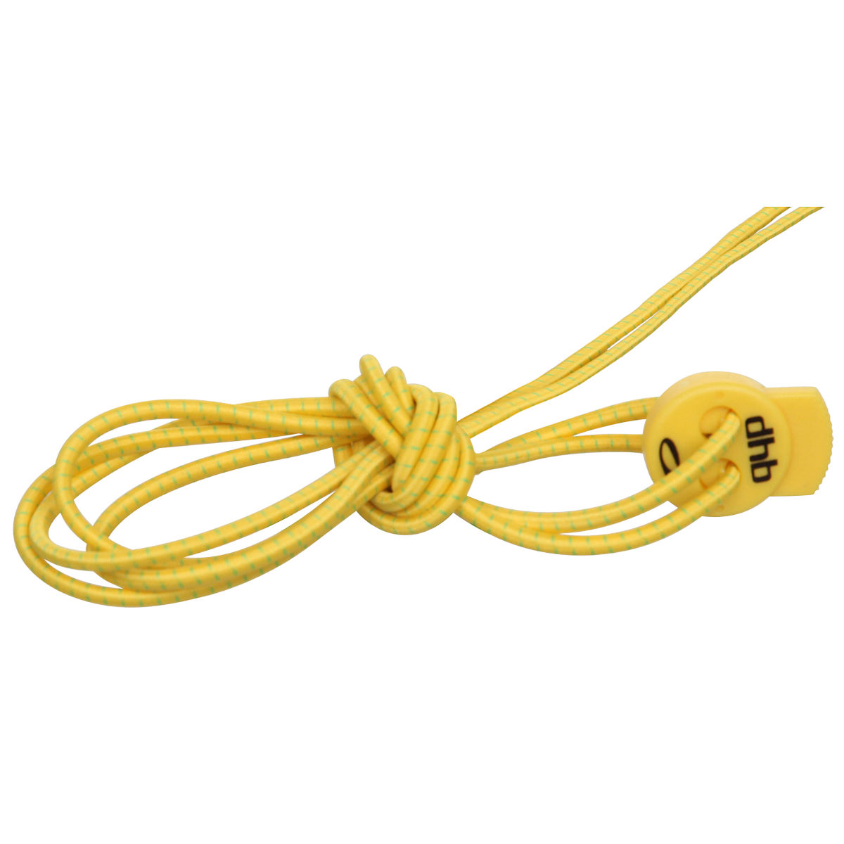 dhb Elastic Lock Laces - One Size Hi Vis Yellow