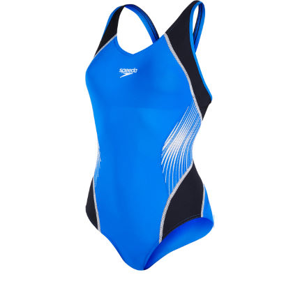 Speedo Fit Splice Musclesback Baddräkt