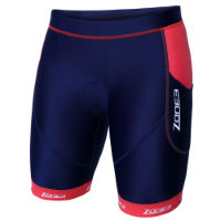 Zone3 Womens Aquaflo Plus Tri Shorts (Navy/Coral)