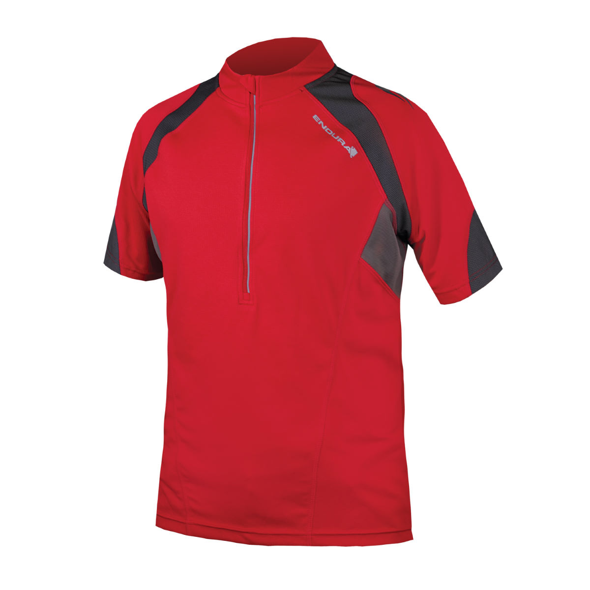 Maillot Endura Hummvee II - S Rouge Maillots vélo à manches courtes