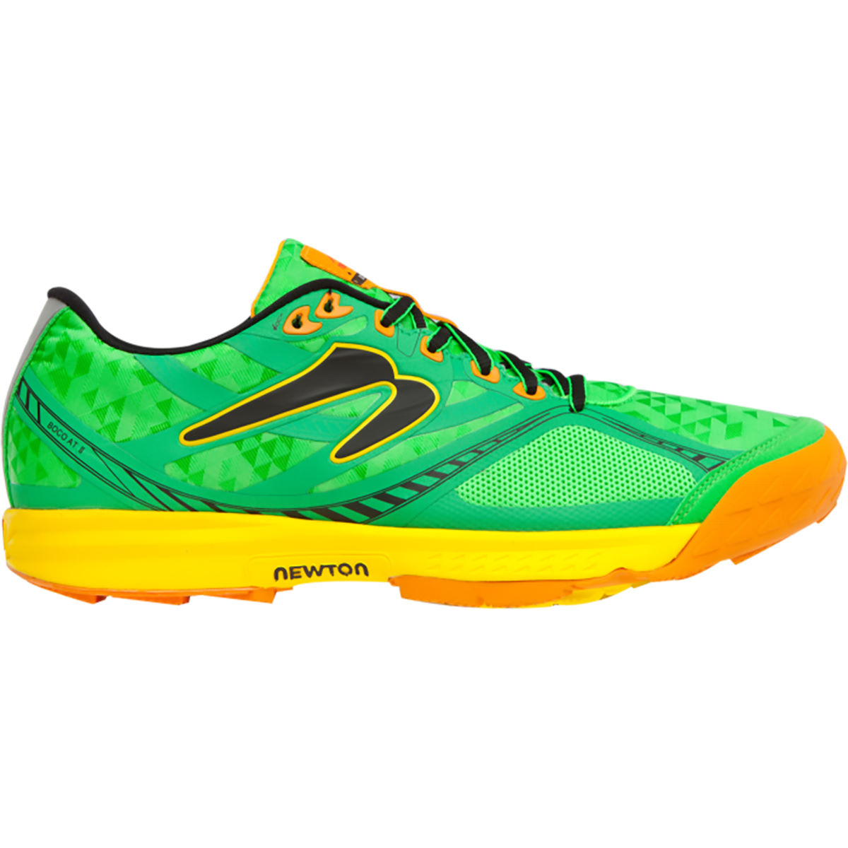 Chaussures Newton Running Boco AT II (AH16) - 11,5 UK Green/Yellow Chaussures de running trail
