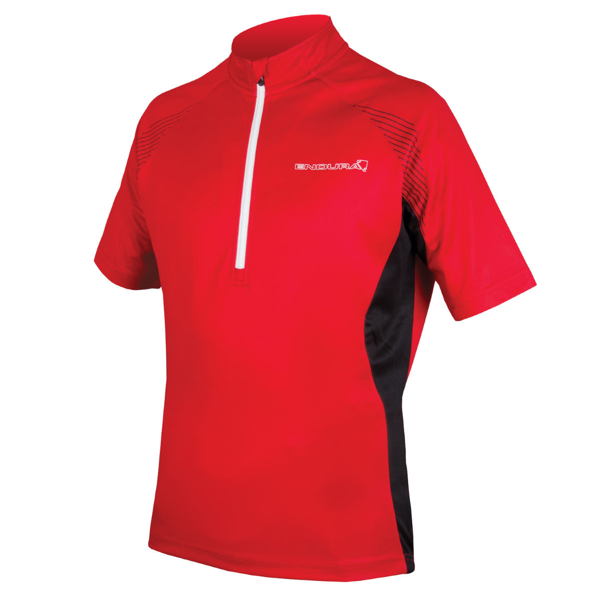 Maillot Endura Xtract II - S Rouge Maillots vélo à manches courtes