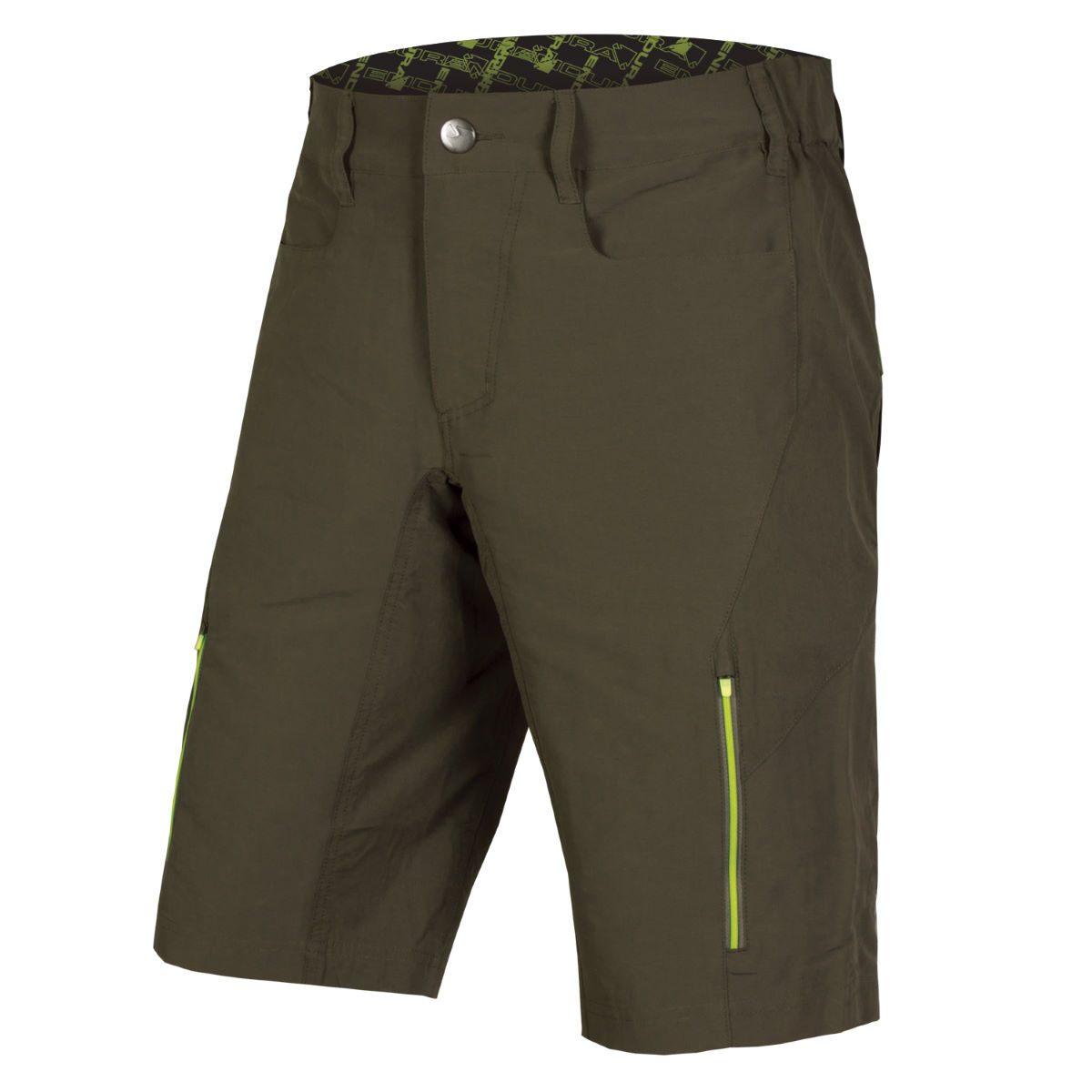 Short Endura SingleTrack III - XXLarge Kaki Shorts VTT