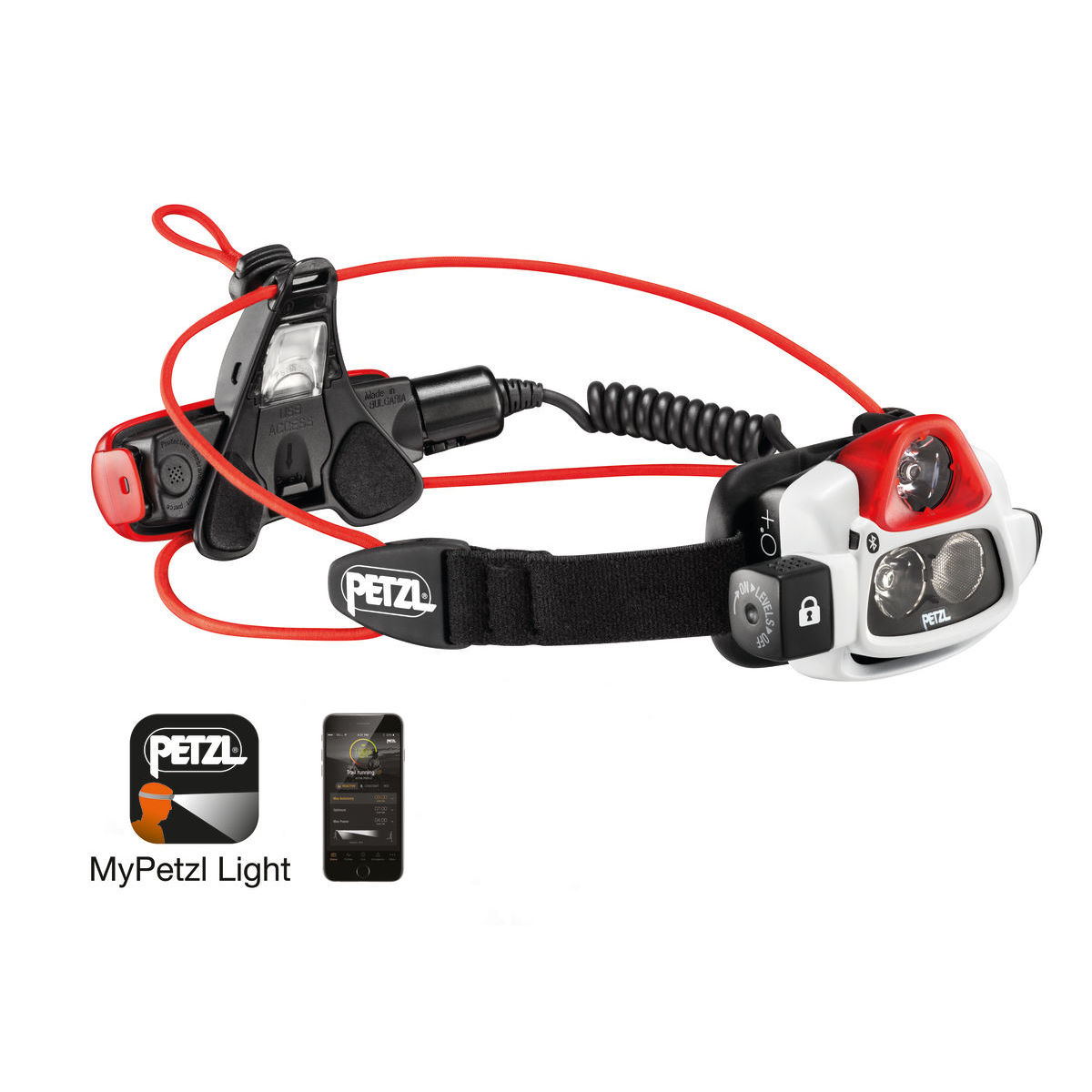 Lampe frontale Petzl Nao+ Smart Bluetooth - Noir/Rouge