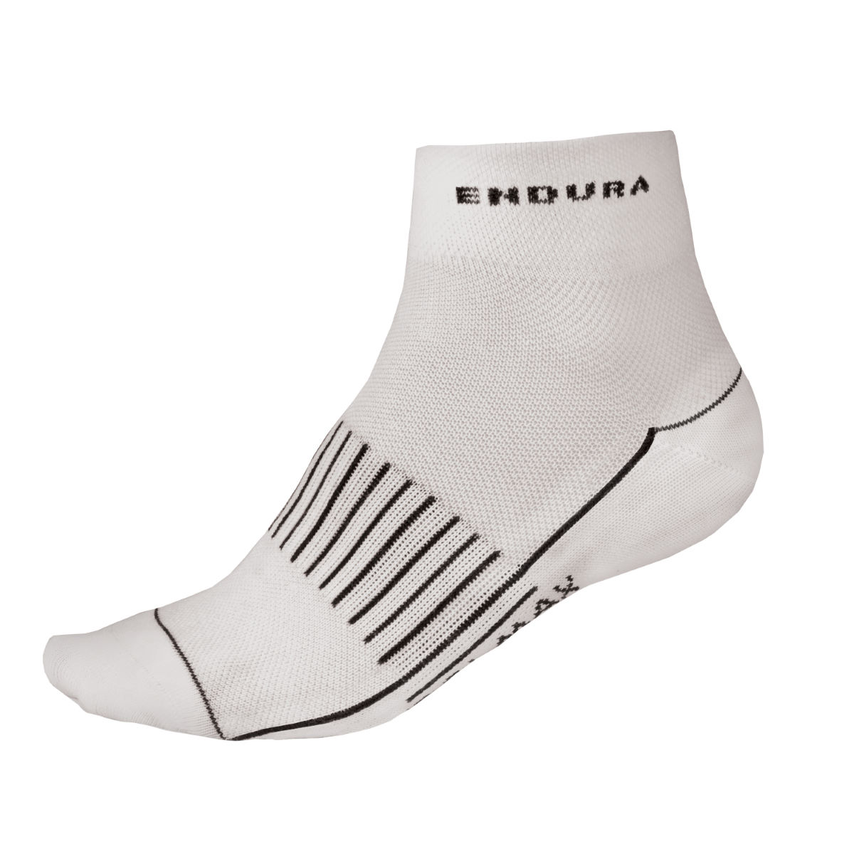 Chaussettes Endura Coolmax® Race II (3 paires) - Small Blanc