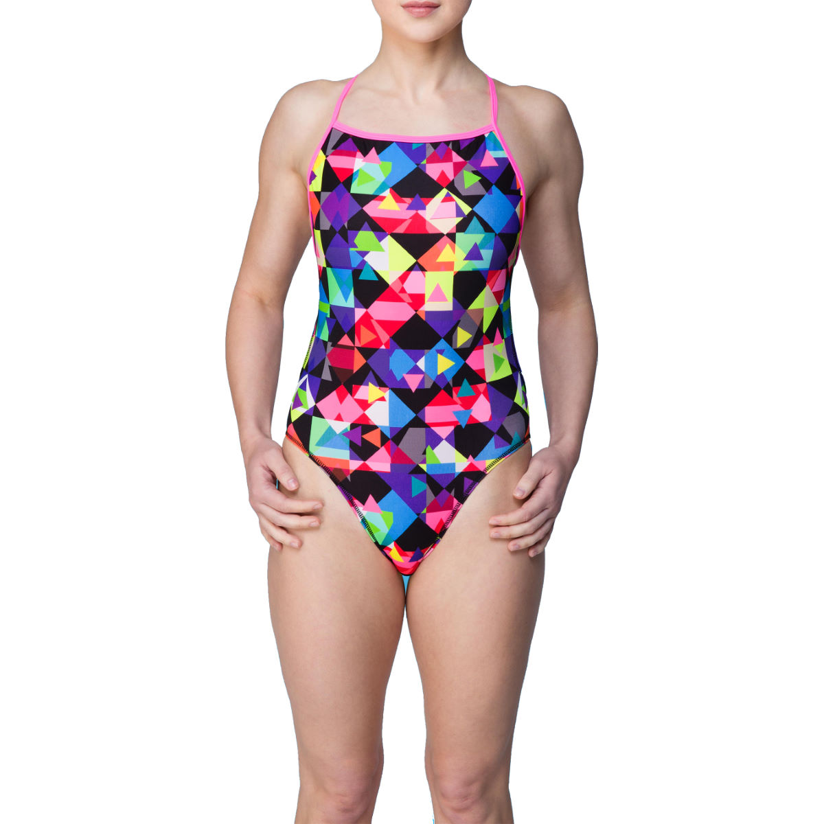 Maillot de bain Femme Maru Checker Magic Pacer (dos Vision, AH16) - 30'' Multi Maillots de bain Adulte