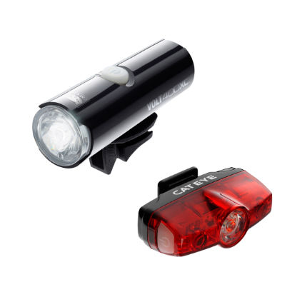Cateye Volt 400 XCFront Light and Rapid Mini Light Set