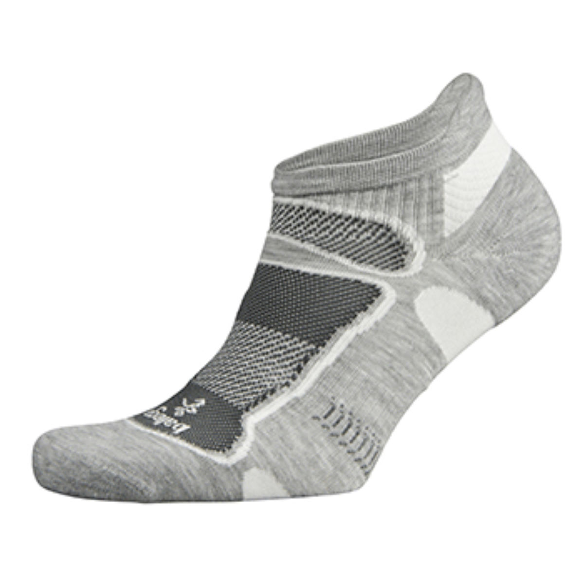 Chaussettes Balega Second Skin Ultralight No Show - M Gris/Blanc