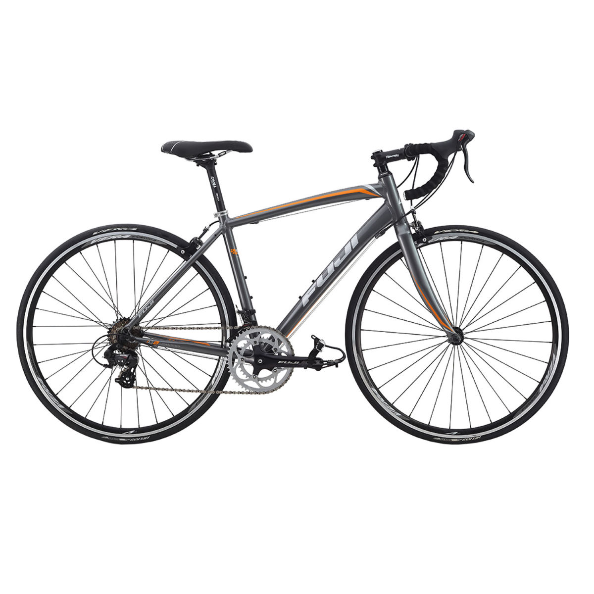 Vélo de route Fuji Finest 2.3 (2015) - 50cm Gris/Orange Vélos de route