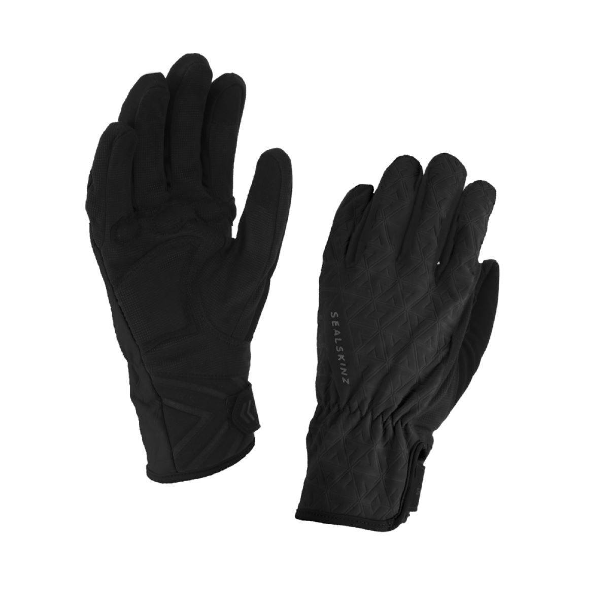 Gants cyclistes Femme SealSkinz All Weather - L Noir/Charbon Gants