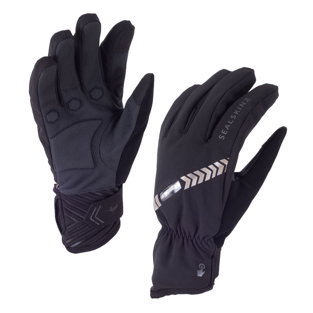 Gants cyclistes SealSkinz Halo All Weather - M Noir/Charbon Gants