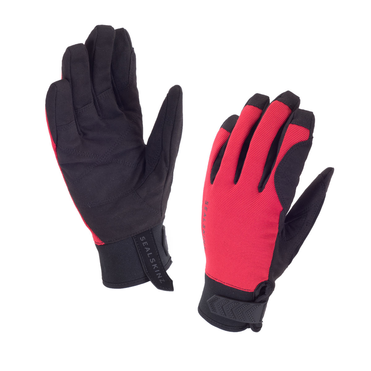Gants SealSkinz Dragon Eye (route) - S Noir/Rouge Gants