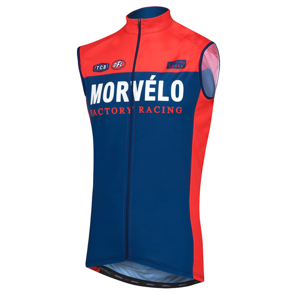 Gilet sans manches VTT Morvelo Factory Racing Covert - M Factory Racing Gilets vélo