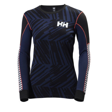 Camiseta interior de manga larga Helly Hansen Active Flow Graphic para mujer