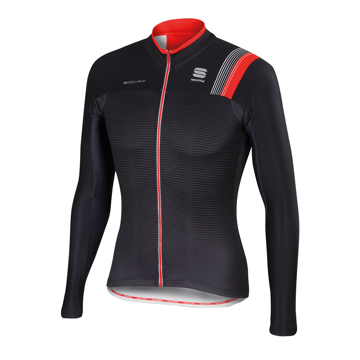 Maillot Sportful BodyFit Pro (thermique, AH16) - XXL Black/Anthracite/Red Maillots vélo à manches longues