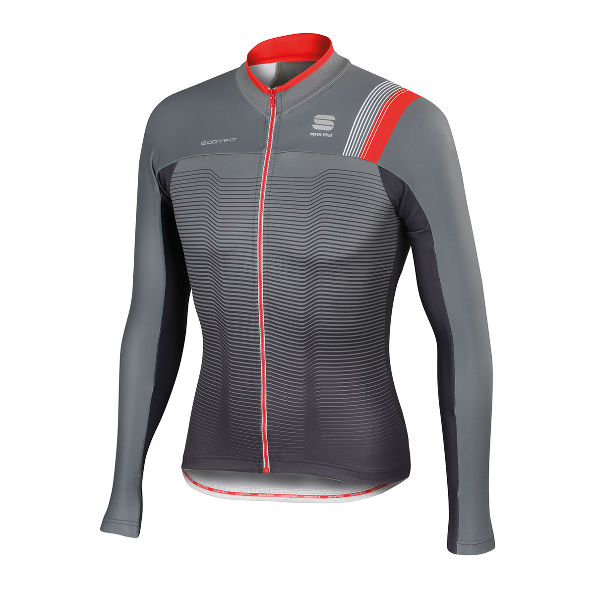 Maillot Sportful BodyFit Pro (thermique, AH16) - XXL Olive/Anthracite/Red Maillots vélo à manches longues
