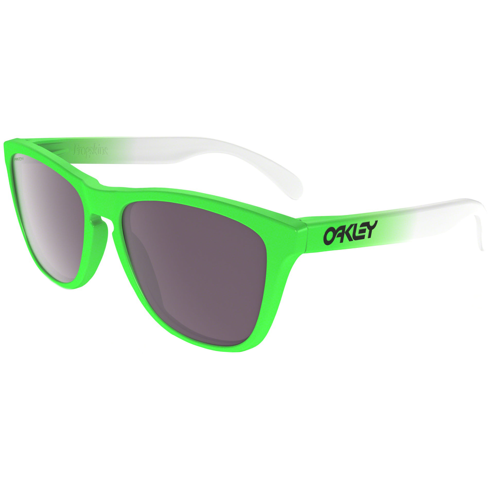 sunglasses over glasses oakley 9c1l  Oakley Frogskins Green Fade Polarised Sunglasses